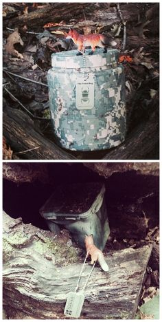 camo #geocache containers in te wild