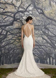 Open halter back: http://www.stylemepretty.com/2015/04/14/nicole-miller-bridal-week-2015/ #SMPBridalWeek