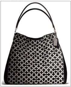 The Madison Phoebe Shoulder Bag In Op Art Sateen Fabric from Coach. Annie  Jones c245e5d436bcb