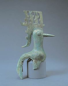 China - Bronze bird unearthed at Sanxingdui