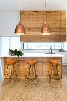 Loughlin Furniture : home Kitchen Design, Kitchen Decor, Kitchen Ideas, Timber Kitchen, Cool Kitchens, Modern Kitchens, Ceiling Lights, Table, Inspiration