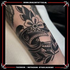 Plague doctor Black and grey on forearm. Designed and Tattooed by: Tadeja Dragon Tattoo Tattoo Portfolio, Plague Doctor, First Tattoo, Color Tattoo, Tribal Tattoos, Black And Grey, Dragon, Style, Swag