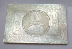 MOTHER of PEARL CHINESE/CANTONESE GAMING COUNTER-ARMORIAL CREST - SQUIRREL