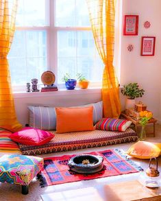 New Living Room Floor Seating Interiors Ideas Ethnic Home Decor, Indian Home Decor, Moroccan Decor, Moroccan Style, Indian Style, Indian Room, Indian Bedroom Decor, Indian Decoration, Indian India