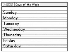 Simple handwriting and spelling practice for the days of the week and the months of the year. Students practice writing in print and cursive with these free calendar worksheets. Free Cursive Worksheets, Spelling Worksheets, Science Worksheets, Reading Worksheets, Writing Activities, Teaching Resources, Spelling Word Practice, Alphabet Writing Practice, Handwriting Practice