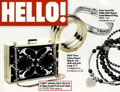 Our stunning new CARAT*X project clutch bag featured in HELLO! magazine.