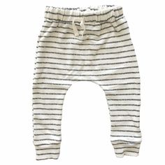 Charcoal Stripes Slim Harems by Babysprouts co. This style features a slim fit with a buttery soft bamboo french terry. Natural Charcoal, Baby Boy Or Girl, Baby Leggings, Kids Pants, Drawstring Pants, French Terry, Joggers, Kids Fashion, Girl Outfits