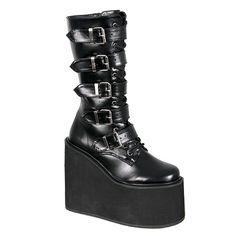 SWING-220 Demonia Buckle Gothic Platform Boots $89.95