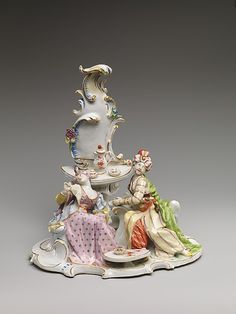 Turkish couple at coffee Nymphenburg Porcelain Manufactory Date: ca. 1775–80