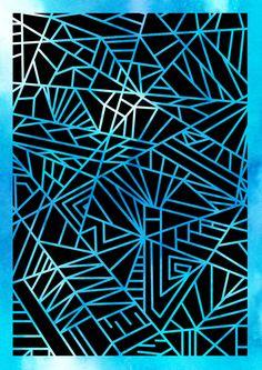 Plotterdatei Geometric Linien