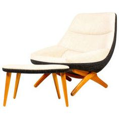 Easy Chair and Ottoman by Wikkelsoe