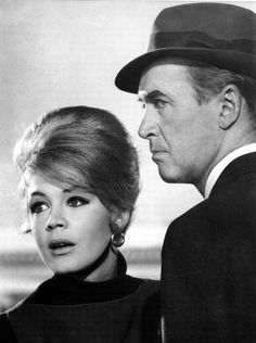 """Jimmy Stewart amd Sandra Dee in """"Take Her She's Mine"""" (1963)"""