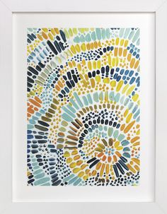 Sun Drop by Holly Royval at minted.com - Wonder if I could create this myself with some paint and a canvas.  Could customize the colors too.