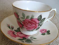 victorian tea cups | Victorian Tea Cup & Saucer Royal Vale Ridgway by EcclectiCities, $15 ...