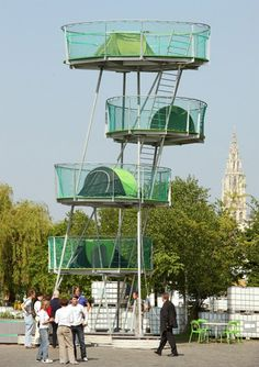 urban design | Stacked City Camping Structure for Portable Urban Shelter