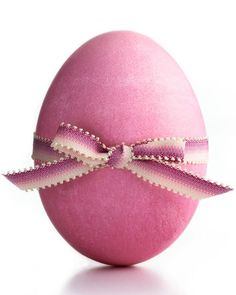 Ribbon-Embellished Eggs