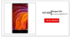 ¡OPORTUNIDAD! Doogee Mix con 6GB de RAM por solo 157,42 euros  ¿Buscas un smartphone barato? Consigue aquí el Doogee Mix 5.5 ¿Estás pensando en deshacerte de tu viejo móvil y comprar un nuevo smartphone de calidad sin tener que gastar la paga del mes? Pues pon mucha atención a tu pantalla porque hoy te traemos uno de esos ofertones que no se pueden...