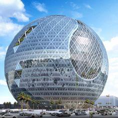 Technosphere: Futuristic Building In Dubai, UAE. Technopark by James Law Cybertecturein Jebel Ali