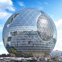 Technosphere: Futuristic Building In Dubai, Jebel Ali, UAE, structure, architecture, fantastic, amazing, unique, futuristic, building, concept, James Law Cybertecture, solar panels, green energy