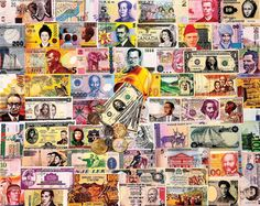 A World of Money (550-Piece Puzzle by White Mountain)