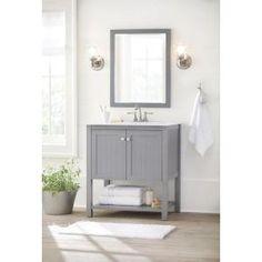 Sadie 38 In Vanity In Antique Blue With Marble Vanity Top In White With White Basin Vanity