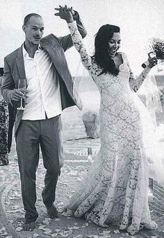 Naya Rivera and Ryan Dorsey at their wedding in 2014