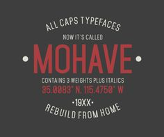 Mohave Free Typefaces by Gumpita Rahayu, via Behance