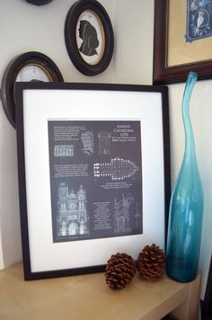 Cape hatteras lighthouse architectural blueprint by scarletblvd amiens cathedral art historical architectural by scarletblvd 3500 etsy homedecor design malvernweather Choice Image