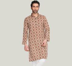 Light Brown Printed Kurta - Full Sleeves  Buy Here: http://zovi.com/light-brown-printed-kurta-full-sleeves--10313203201