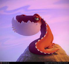 Dragonsaur by Ben Hickling. Character Concept, Character Art, Concept Art, Dragon Illustration, Character Illustration, Dragons, Character Design Cartoon, Modelos 3d, Cute Monsters