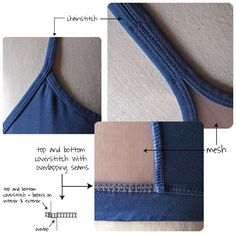 Sewing, wardrobe, some pattern downloads:  Construction of Sports Bras