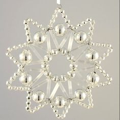 Czech Republic Lace Star Glass Bead Christmas Ornament Kit  GBK 863-S