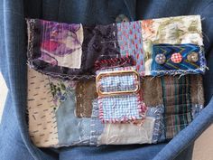 clutch art bag, boro, patched, recycled and slashed fabrics , unique christmas gift, handmade, ooak by jansfabfairies on Etsy