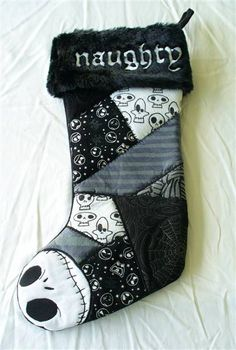 nightmare before christmas stocking | Disney Nightmare Before Christmas Jack Skellington Naughty Stocking ...