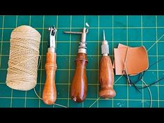 How to Sew Leather by Hand - YouTube