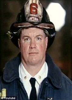 """Captain Jay Jonas and five of his firefighters from Ladder Six heard a rumble and felt the staircase move. The South Tower had just collapsed.  'I'm pulling the plug,' Jonas said as he gave the order to evacuate. 'I'm thinking, """"We're not going to make it out"""". Matty Komorowski was last in line. In just eight seconds the building came down. Komorowski landed three floors lower in a standing position. Lim landed near Harris, who landed clinging to the boot of Butler."""
