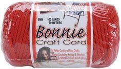 macrame craft cord red - 6mm x 100 yards