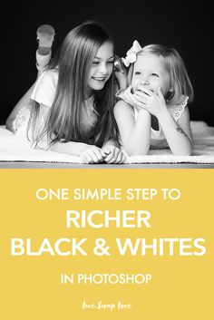 A quick little editing tutorial for you today, showing you how you can  convert your images to a richer black and white in Photoshop. It's so  simple, but instantly gives a much deeper result than simply using the  grayscale or black and white conversion provided by Photoshop. In fact,  it's so simple, I'm almost embarrassed to share it (but obviously not that  embarrassed)  OK, here's how you do it:  1) Open the color photo you want to convert to black and white. Here's my  original…