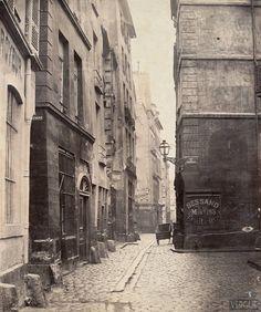 Rue des Marmousets en 1850 Transformations de Paris sous le Second Empire Paris 13eme, Old Paris, Old London, Paris Street, Saint Chapelle, Old Hospital, General Hospital, The Catacombs, Ile Saint Louis
