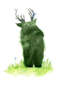 Forest Illustration, Cute Illustration, Digital Illustration, Serpentina, China Art, Creature Design, Cute Art, Art Inspo, Watercolor Art