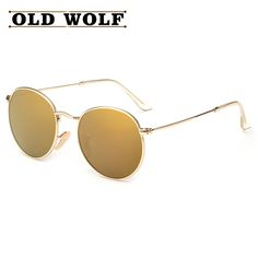 Aliexpress.com : Buy TOP Classic Vintage Round Polarized Sunglasses 2016 Women Ray Brand Metal Frames Visor Polaroid Sun Glasses Men Retro oculos from Reliable glasses oval suppliers on Koala Bears Shop