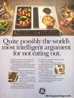 GE Electronic Downdraft Cooktop 1990 Ad Picture