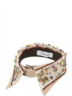 SETTANTA BIJOUX - LIMITED EDITION CANVAS COLLAR - LUISAVIAROMA - LUXURY SHOPPING WORLDWIDE SHIPPING - FLORENCE