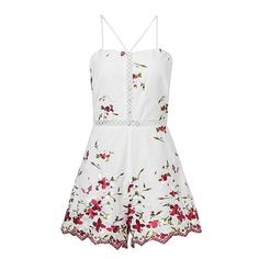Buy Women Lace Up Floral Embroidered Jumpsuits Side Short Sleeve Pleated Rompers and other Jumpsuits, Rompers Overalls at Narvay.com.Shop jumpsuits rompers Rack today receive free shipping on orders over.Moon River Embroidered Button Surplice Neck Romper.rompers Women jumpsuit Sexy strap backless Vintage.