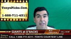 San Francisco Giants vs. Arizona Diamondbacks Pick Prediction MLB Baseba...