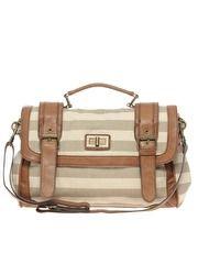Striped satchel for spring