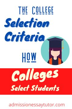 Not all schools select candidates on the basis of grades and test scores alone. What do colleges look for? The way colleges select students, particularly private institutions, will depend on factors determined by each college according to criteria they set and revise each year. See what these factors are and how you can put the odds in your favor. #CollegeAdmission #CollegeTips #ApplyingToCollege College Admission Essay, College Essay, High School Writing Prompts, Swarthmore College, Karate Club, School Places, Personal Qualities, College Looks