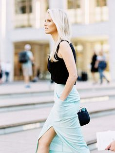 The Chicest Ways to Wear a Slit Skirt