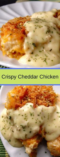 Crispy Cheddar Chicken – Easy Recipes - New Ideas Crispy Cheddar Chicken – Easy Recipes Crispy Cheddar Chicken – Easy Recipes Crispy Cheddar Chicken, Baked Chicken, Chicken Soup, Cheesey Chicken, Chicken Lasagna, Fresh Chicken, Best Chicken Recipes, Turkey Recipes, Cooking Recipes