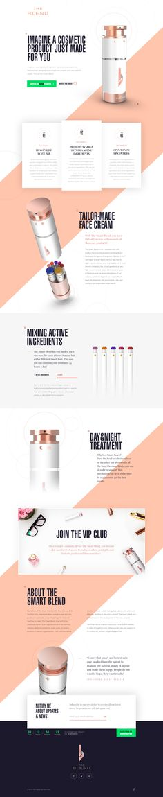 The SmartBlend - Ui design concept for a cosmetic industry startup by dog studio.